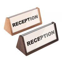 木質三角座台展示牌(雙面展示)