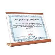 - -特價清貨- -沙比利木座檯證書展示牌 (A4橫式-210 x 297mm)