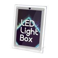 LED 超薄水晶燈箱海報架 (A4-可掛牆/座台)