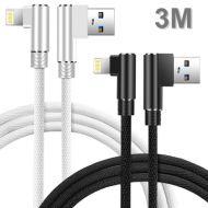 Apple USB 充電數據線 (3米/轉彎頭)