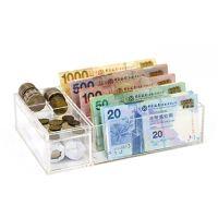 透明亞加力紙幣及硬幣存放分類架(1套2件)
