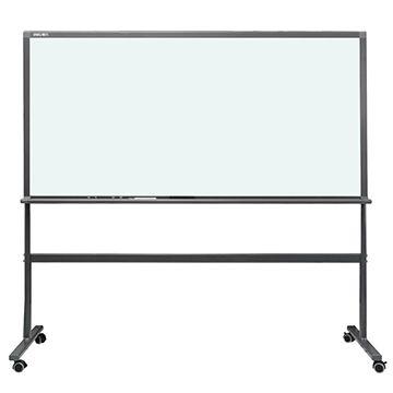 高級商務活動式磁性玻璃白板連架(180x90cm)