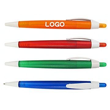 透明磨砂筆桿按掣原子筆(連印刷 LOGO-300支起)