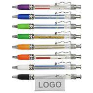拉紙廣告原子筆-透明筆桿 (連印刷 LOGO-1,000支起)